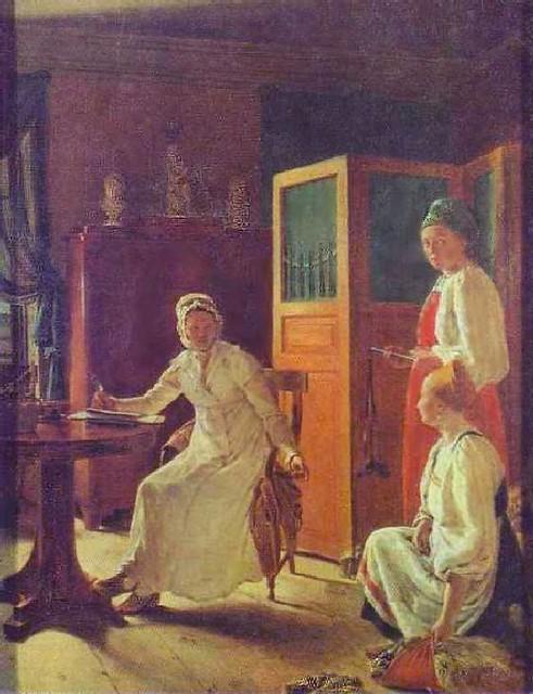 А.Г. Венецианов (1780—1847)  Утро помещицы  (Помещица, занимающаяся хозяйством) 1823 г.