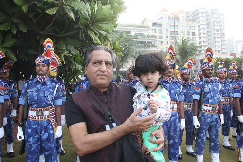 The 2 Year Old Internet Press Reporter Nerjis Asif Shakir ..56 Republic Day Bandra Bandstand by firoze shakir photographerno1
