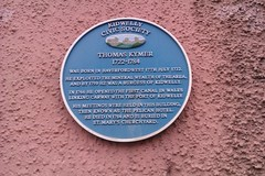 Photo of Thomas Kymer blue plaque