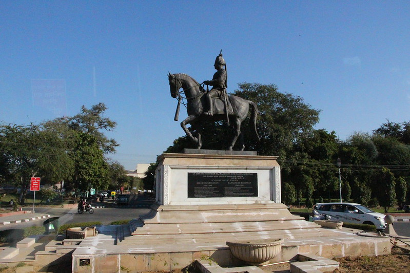 Statue Of His Highness Sir Sawal Man Singh 2nd Bahadur