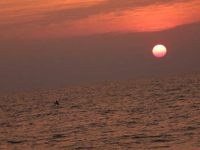 sunset at Varkala Beach, Kerala