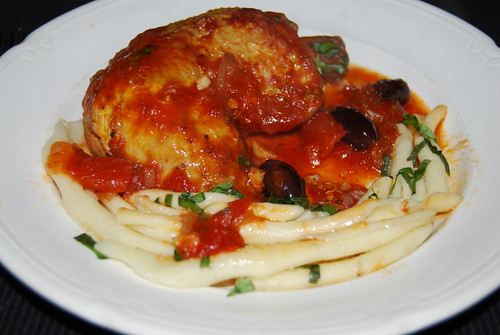 kip tomaat en olijven