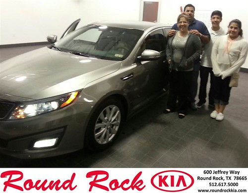 Thank you to Albert & Gina Rodriguez on your new 2014 #Kia #Optima from Fidel Martinez and everyone at Round Rock Kia! by RoundRockKia
