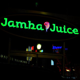 Jamba Juice at night
