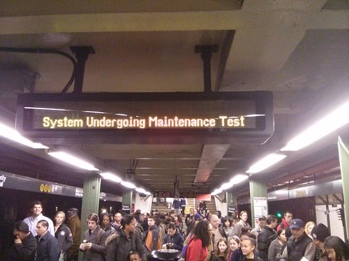 MTA countdown clock M