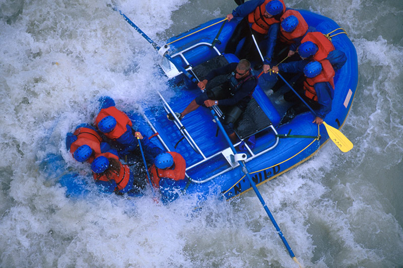 White Water Rafting on the Kicking Horse River; Outdoor Recreation in British Columbia, Canada