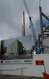 Christchurch Arts Centre 在 基督城 附近 的形象. newzealand christchurch signs cranes constuction constuctionsite