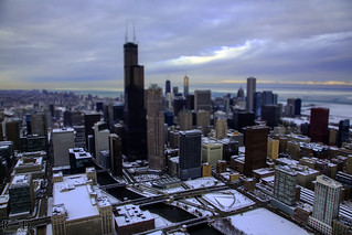 Winter Chicago helicopter tour - 1-3-2014