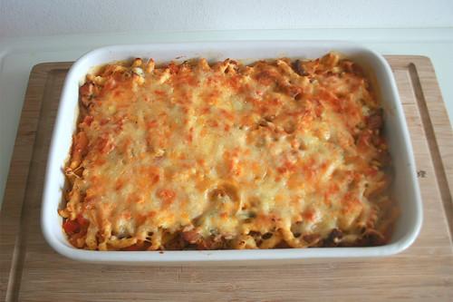34 - Gyros-Spätzle-Auflauf - Fertig überbacken / Gyros spaetzle casserole - Finished baking