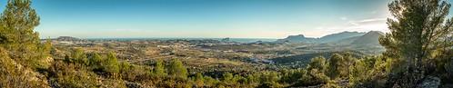 panorama costa spain view blanca calpe benissa