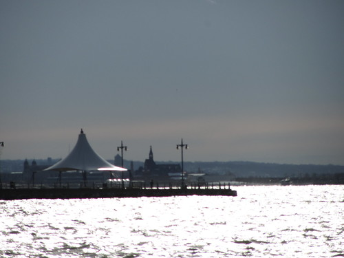 pier with tent