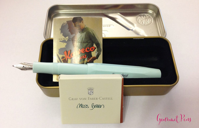 Review Kaweco Sport Skyline Mint Fountain Pen - Broad @CouronneDuComte @Kaweco (2)