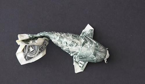origami dollar fish