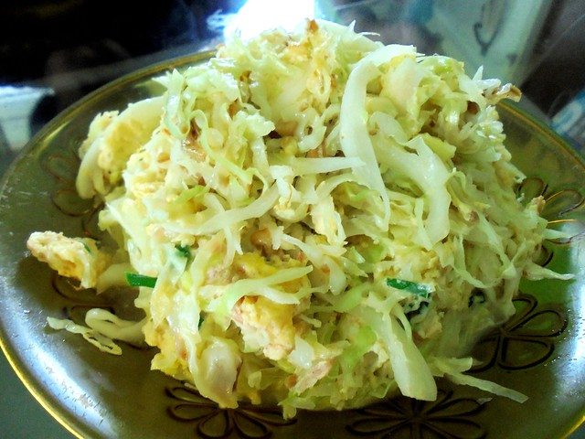 Cabbage with cincaluk egg