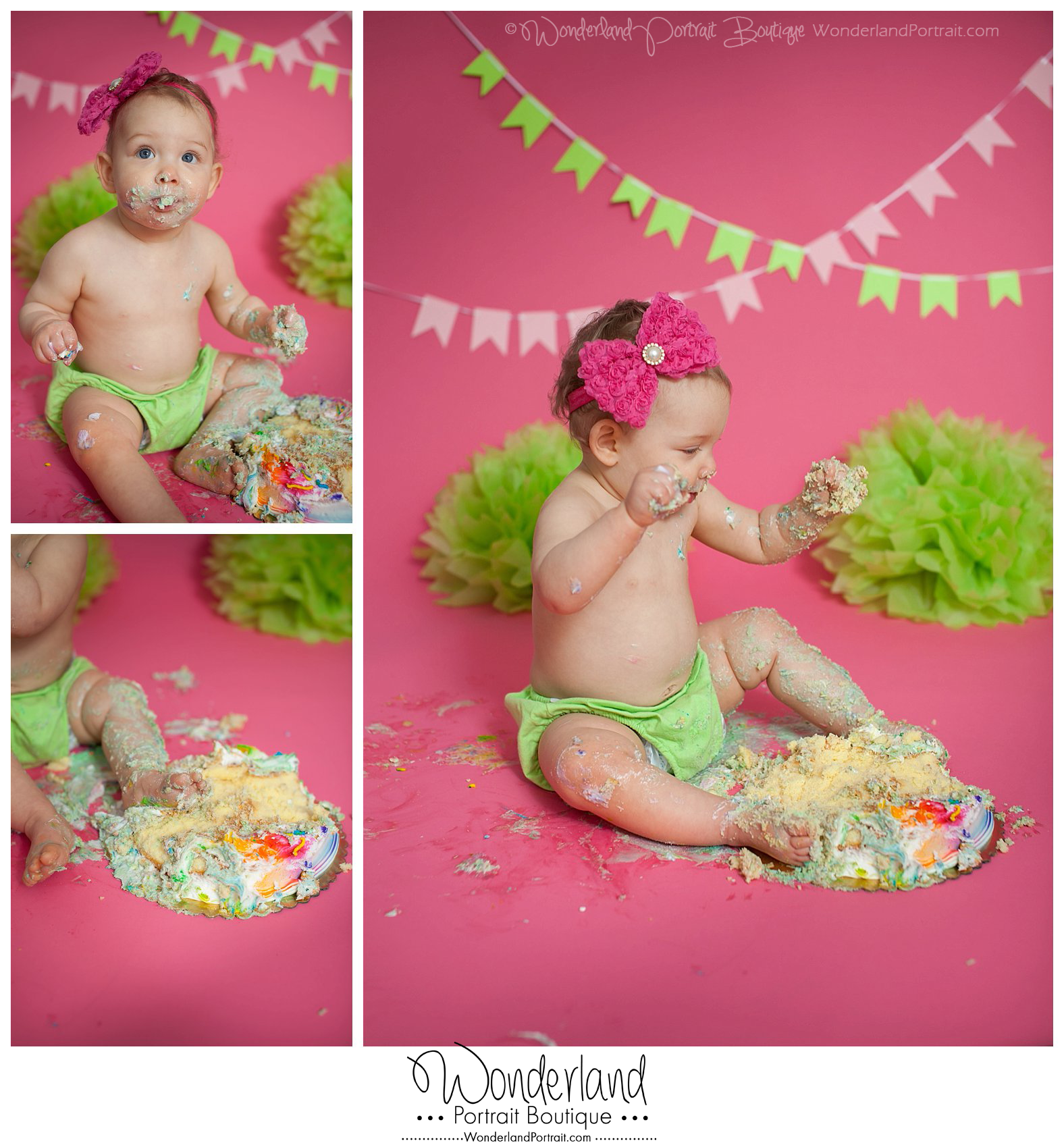 Baby Cake Smash Photographer Newtown PA WonderlandPortrait.com