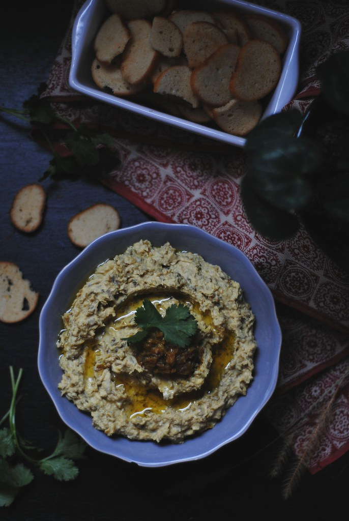 Brinjal Pickle Hummus
