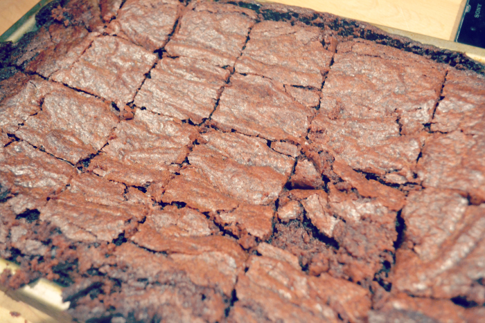 mint chocolate vegan brownies