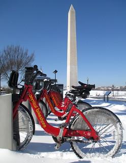 Snow Day Bikeshare Ride Mall