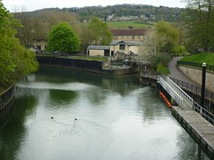 Bath canal/river confluence