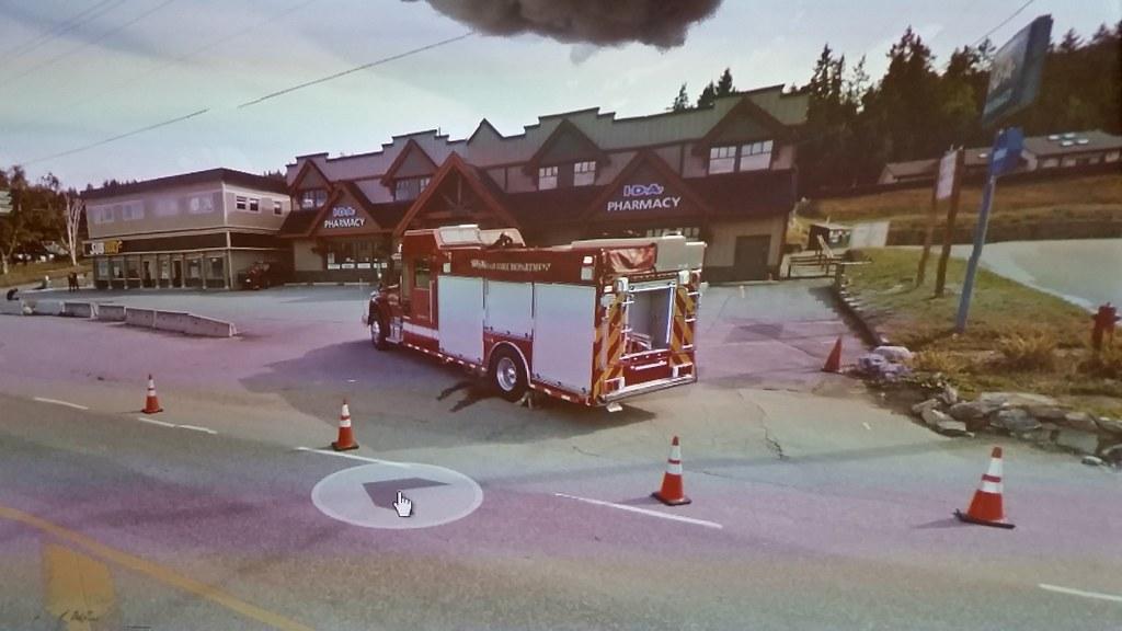 Fire truck in #googlestreetview #ridingthroughwalls