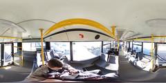 Moscow trolleybus SVARZ-MAZ-6235.00 interior panorama