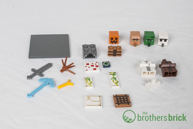 lego minecraft village instructions