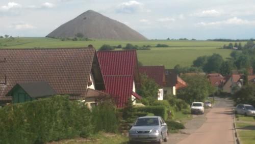 Die Bergbauhalde bei Sangerhausen