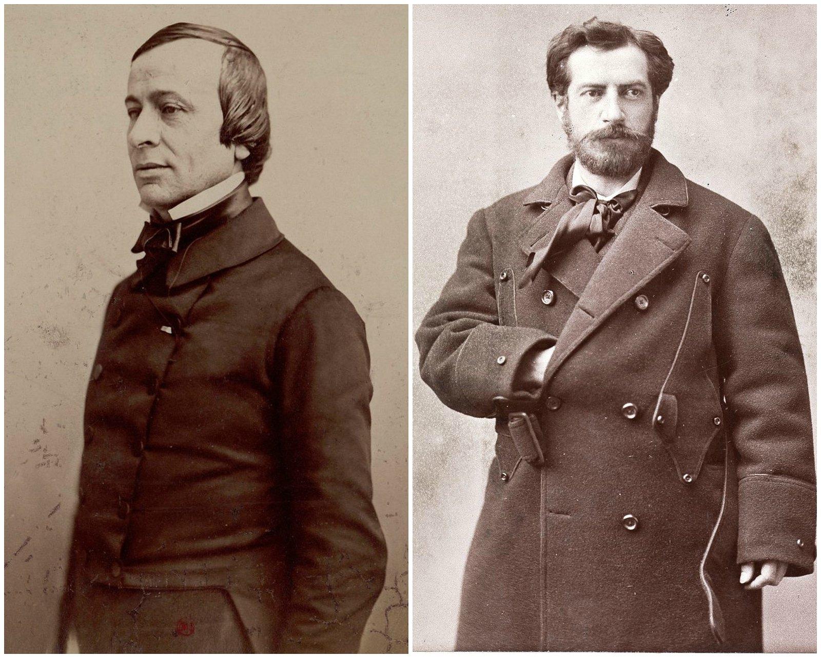 Édouard René de Laboulaye (left) and Frédéric Auguste Bartholdi
