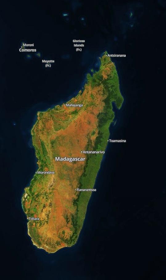 Madagascar and environs