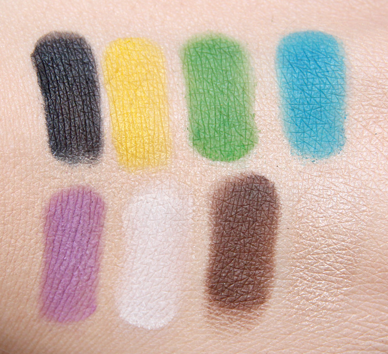 MUFE technicolor palette swatch