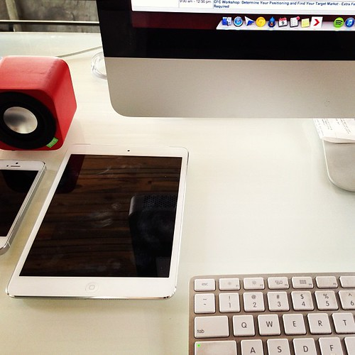 Workin at Josh's office with every Apple device imaginable. #someofthemmine!