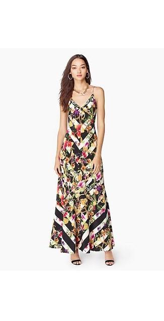 Trellis Striped Maxi Dress