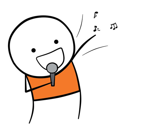Cartoon singing