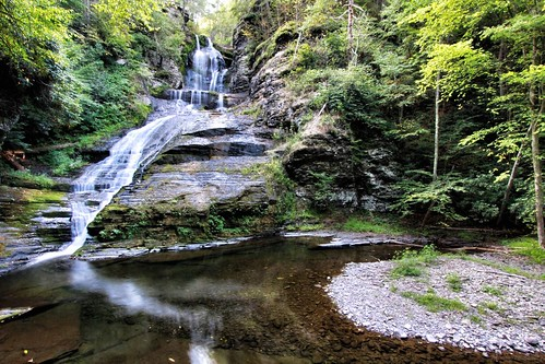 usa waterfall pennsylvania poconos rickettsglen wegtwo