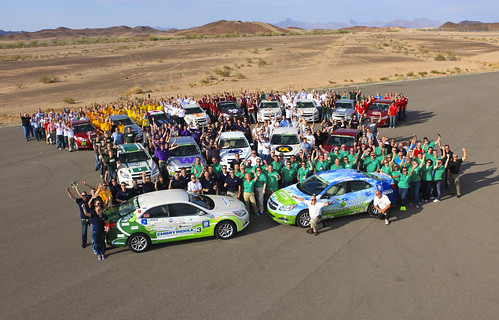 EcoCAR2 universities use Siemens PLM software to design electric vehicles.