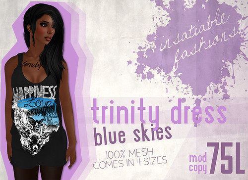 [IF] Trinity Dress - [Gradient] {Blue Skies} Ad