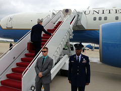Secretary Kerry Boards the Plane En Route to Oman