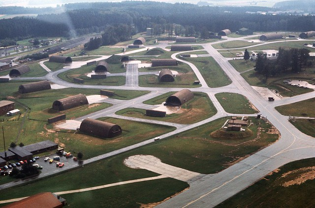 Hahn Air Base from overhead