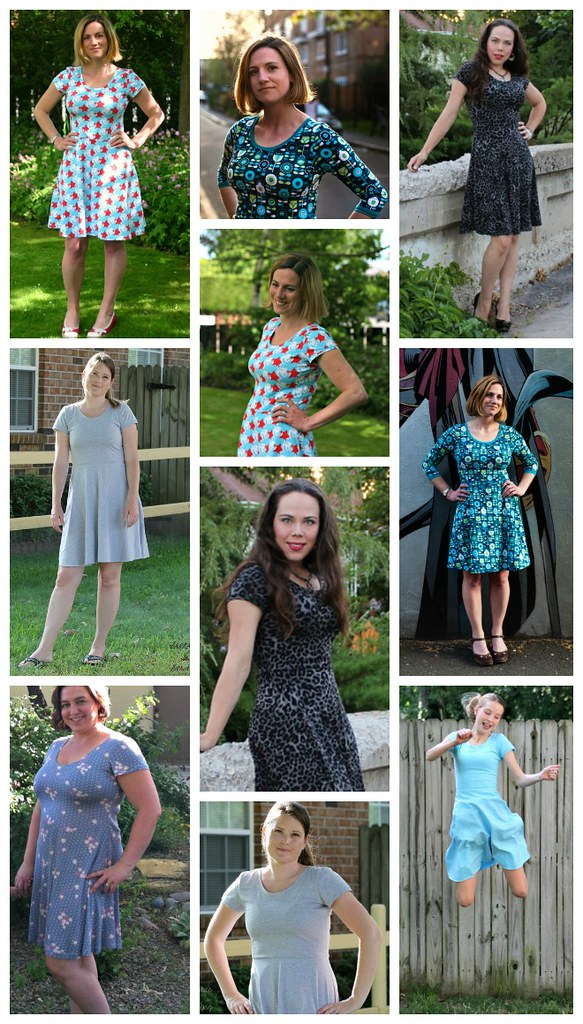 Big Girls' Skater Dress Collage