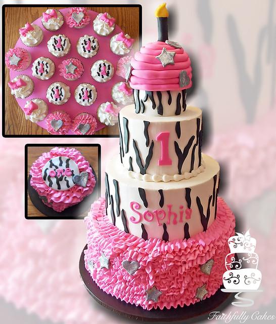 Ruffle Zebra First Birthday