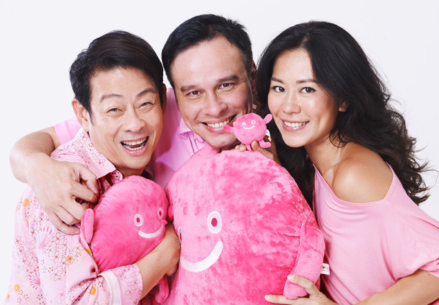 Michelle Chia, Ivan Heng and Mark Richmond, Pink Dot 2013 Ambassadors