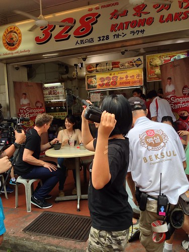 Gordon Ramsay trying a bowl of laksa at 328 Katong Laksa