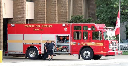 Squad 313 Toronto Fire Truck, Toronto Fire Station  #313, Toronto, Ontario