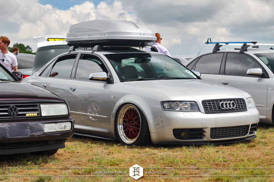 silver audi b6 as s4 bbs LM thule box  at eurohanger 2013 holland michigan slammed dropped dumped bagged static coilovers hella flush stanced stance fitment low lowered lowest camber wheels tucked 16s 17s 18s 19s 20s 3piece 1 piece custom airbags scene scenester