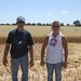 Brandon and I, all covered in oat chaff. It is itchier than wheat, we decided.