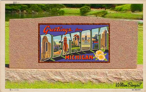 GREETINGS FROM DETROIT by WilliamBanzai7/Colonel Flick