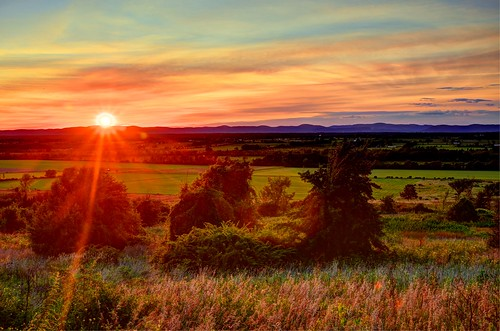 orange sun ny mountains clouds sunsets adirondacks