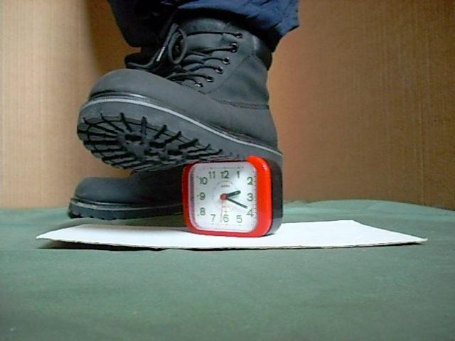 Workboots alarm clock 03