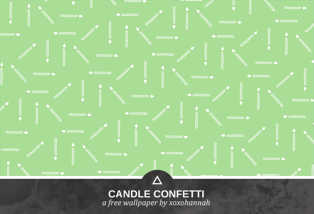 Candle Confetti Desktop Background Preview in Pea Green