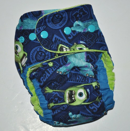 Bumstoppers One Size Teal Monster Ai2  Cotton Velour